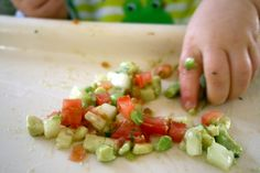 Avocado Dill salad for baby (with cucumber and tomato)