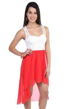 Deb Shops #coral high low #dress, Short in the front and Long in the back might just be something I could like!