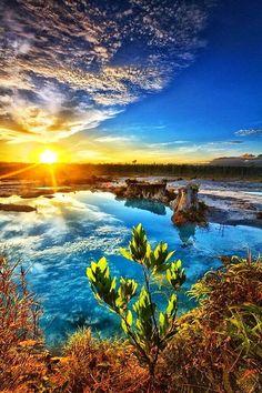 Singkawang,blue lake Indonesia