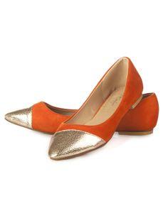 Toe cap ballerinas shoes styletag