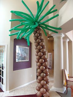 Make your own balloon palm tree.  It's easier than you think.  Go to www.funjani.blogspot.com