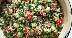 "The classic Middle Eastern salad gets an of-the-moment upgrade with the ""it"" grain, quinoa."