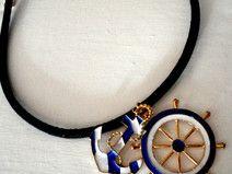 ⚓⚓ Maritime Kork Halskette dunkelblau ⚓⚓