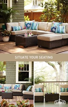 Rearrange outdoor seating to suit your space. There's a stylish configuration for every outdoor occasion.