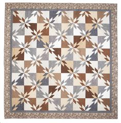 Neutral love--Sundown Fabric Collection, Brilliance Quilt Kit by Ann Johnson - ConnectingThreads.com