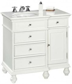 for upstairs bathroom.  I love that the sink is off-center; gives you a lot more counter space for a small vanity