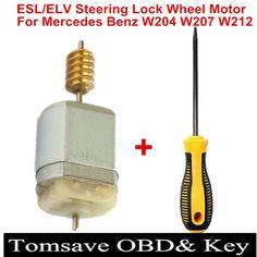 Free Shipping ESL/ELV Motor Steering Lock Wheel Motor for Mercedes For Benz W204 W207 W212 Plus Open Dowel Pins Dedicated Tool