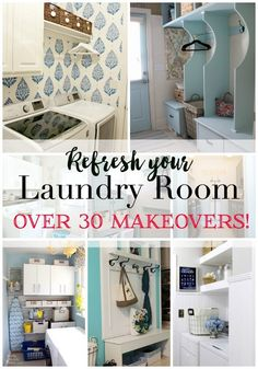 Where's the best place to find ideas when you need a laundry room makeover? My blogger friends of course! I have a tiny laundry room. I tried my best to organize it last year and to be honest, it looked great for a while and slowly the problem areas reared their ugly head. I added ... Read More about 30 Laundry Room Makeover Ideas
