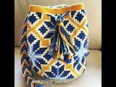 Bolsos y mochilas de crochet estilo wayuu, tapestry o jacquard, tendencia boho verano 2017. - YouTube