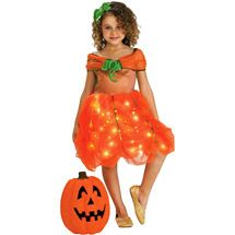 Lite up Pumpkin Princess Toddler Halloween Costume