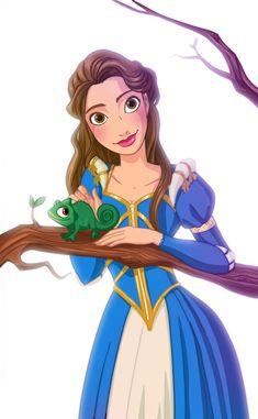 Rapunzel and Eugene's daughter by *Katikut on deviantART