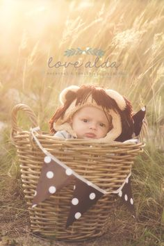 Baby photography lion costume  www.lovealda.com Family Kids, Children Photography, Bassinet, Lion, Costumes, Baby, Decor, Leo, Crib