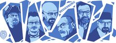 The many faces of Walter White.
