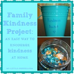 Family Kindness Project: Here is an easy DIY project to encourage helping and kindness, based on the popular book Have You Filled A Bucket Today.