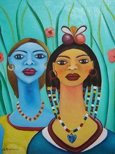 Haitian naive art.