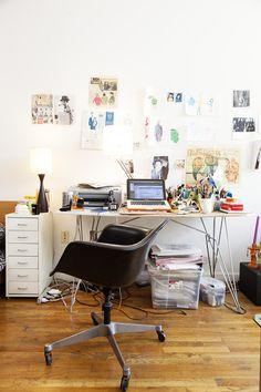 Richard Haines (Illustrator) & Ji Tan (Student) at Home in Brooklyn