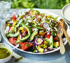 Epic summer salad Perfect for BBQs and buffets, this is an assembly job of gorgeous ingredients – no cooking required. Serve it with lamb kebabs for an impressive summer feast Salad Recipes For Dinner, Summer Salad Recipes, Healthy Salad Recipes, Summer Salads, Healthy Snacks, Summer Food, Clean Eating, Snacks Saludables, Korma
