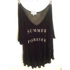 Wildfox 'Summer Forever' tunic/coverup Black Wildfox Tunic/Coverup gently worn Wildfox Other