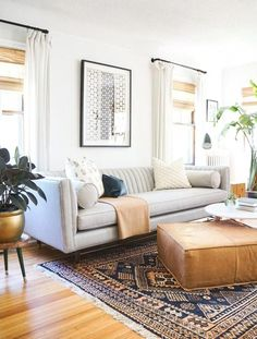 Find out why modern living room design is the way to go! A living room design to make any living room decor ideas be the brightest of them all. My Living Room, Living Room Interior, Home And Living, Small Living, Living Area, Cozy Living, Plants In Living Room, Neutral Living Rooms, Living Room Decor Grey Couch