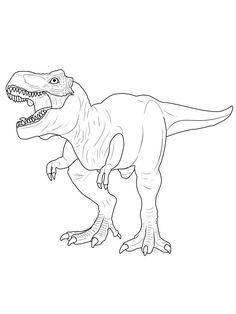 ausmalbild dinosaurier und steinzeit: dinosaurier