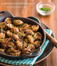 Steakhouse Roasted Mushrooms Recipe - RecipeChart.com
