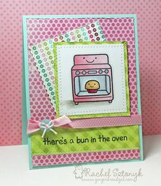 LAWN FUN PLUS ONE iCopic WC31 - Bun in the oven by gingerbread-gal - Cards and Paper Crafts at Splitcoaststampers