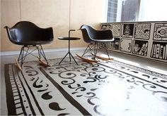 tendencia y alfombras pintadas | Decorar tu casa es facilisimo.com