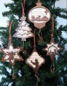 10 Christmas Carol Silhouette Ornaments - Sheila Landry Designs