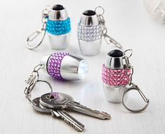 Original Gift Company Jewel Keyring Torches (4) Say goodbye to scrabbling around trying to find the keyhole in your front or car door.These pretty bejewelled torches attach to your keyring to give a bright 3 LED light at the touch of a button. The http://www.MightGet.com/february-2017-2/original-gift-company-jewel-keyring-torches-4-.asp