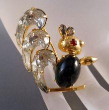 Scitarelli Rhinestone Squirrel Figural Brooch $29