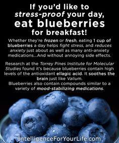 Eat blueberries for breakfast!