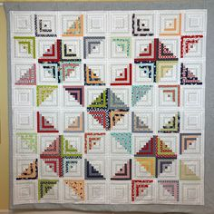 Modern Log Cabin Quilts Articles And Images About Log Cabin Quilts Quilts Modern Quilts In 2020
