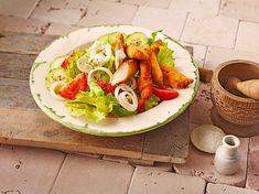 Schnitzelstreifen auf gemischtem Salat (Rezept mit Bild) | Chefkoch.de