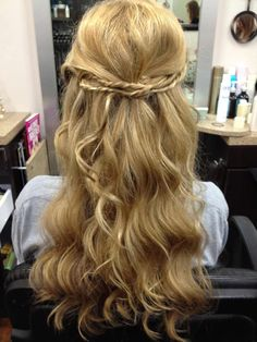 this was my wedding hair