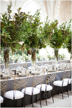 Pantone Greenery wedding inspiration for Tablescape designs. Sinclair & Moore