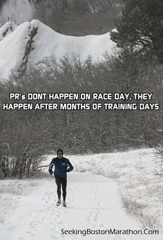 A #running PR does not happen on race day, it's built over days, weeks and months of training days.