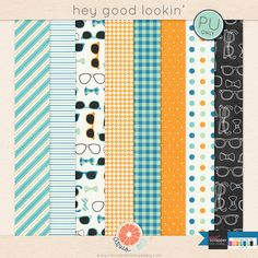 Hey Good Lookin' paper pack freebie from Citrus and Mint