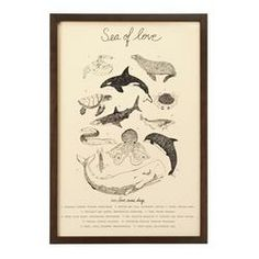 Who knew the ocean was really a sea of love? This Sea of Love Poster by Screech Owl Designs makes the perfect gift for that special someone who will explore any depths with x recycled paper Mermaid Kisses, Artist Bio, Alphabet Print, Love Posters, Flowers Delivered, Love Craft, Romantic Gifts, Marine Life, Vintage World Maps
