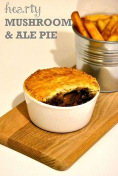 Hearty Mushroom, Ale & Lentil Pie http://www.thevegspace.co.uk/bbc-weekend-kitchen-recipes/ #vegetarian
