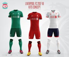 Liverpool Football Club 2017-18 Kits Concept.