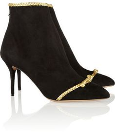 Charlotte Olympia Myrtle braid-embellished suede ankle boots on shopstyle.com