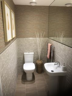 Small Downstairs Toilet, Downstairs Cloakroom, Small Toilet, Modern Toilet, Washroom, Chevrolet Bel Air, White Bathroom, Small Bathroom, Bathroom Ideas