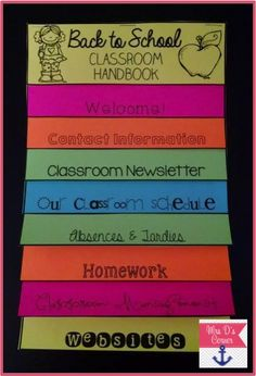 Mrs D's Corner: Back to School & Parent Involvement - how to make a cute little handbook for open house or back to school night!