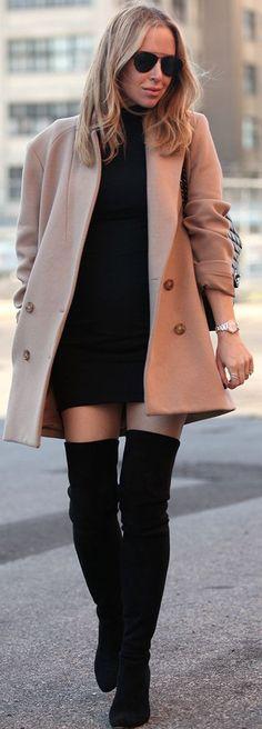 Winter Style In Black & Tan by Brooklyn Blonde.