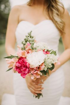 White and Pink Romantic Bouquet