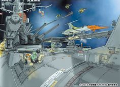Star Blazers Sci Fi Anime, Capital Ship, Star Blazers, Space Battles, Spaceship Art, Sci Fi Ships, Futuristic Art, Deep Space, Tutorials