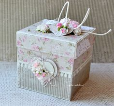 cARTa cARTolina!: Romantyczne pudełko ślubne Memories Box, Diy Crafts For Home Decor, Diy Crafts For Girls, Explosion Box Tutorial, Exploding Gift Box, Organizer Box, Scrapbook Box, Birthday Gift For Wife, Diy Gifts For Friends