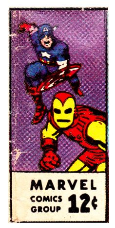 Vintage Marvel corner box art - Tales to Astonish with Captain America and Iron Man