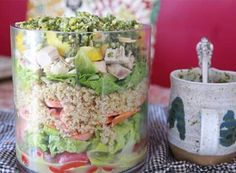 chicken quinoa layered salad