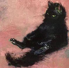 "boringangel: "" cat painting by vanessa stockard "" Grumpy Cat, Crazy Cat Lady, Cat Art, Oeuvre D'art, Art Inspo, Art Drawings, Art Photography, Illustration Art, Artsy"